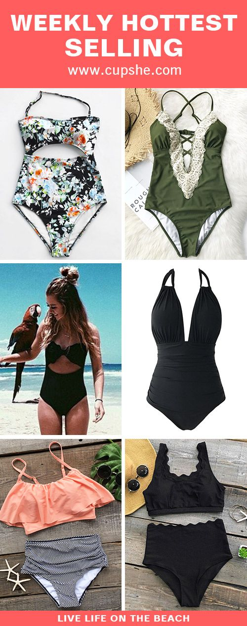 Hit the beach with in style swimsuits from Cupshe. Discover super-cute designs, perfect fits and a whole range of styles to take your beach days to the next level. Enjoy FREE shipping~