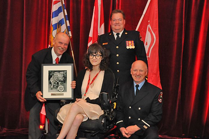 Harley Davidson of Smithers and Smithers Fire Rescue were awarded by Muscular Dystrophy Canada for their fundraising efforts.