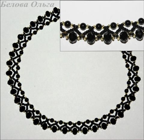 Black Necklace Pattern  - 1 would look lovely in white or ivory for a bride