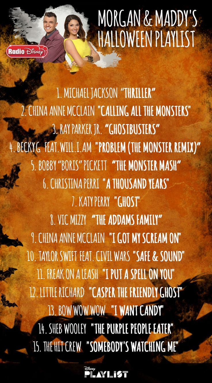 radio disneys morgan and maddy just made your halloween playlist - Kids Halloween Radio