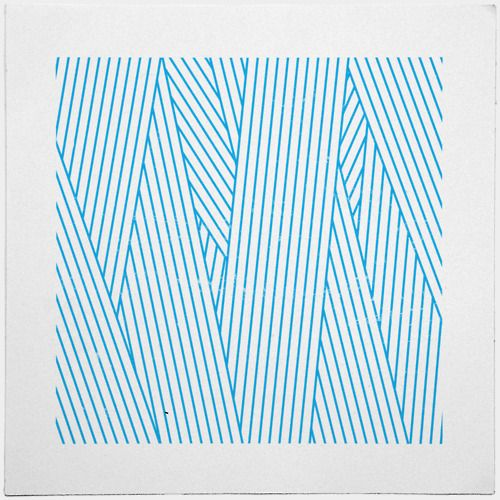 #100 Wiping. Blue overlapping lines. Geometry Daily. Tilman from Nuremberg, Germany.