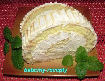Roláda s karamelovým krémem | Babčiny recepty