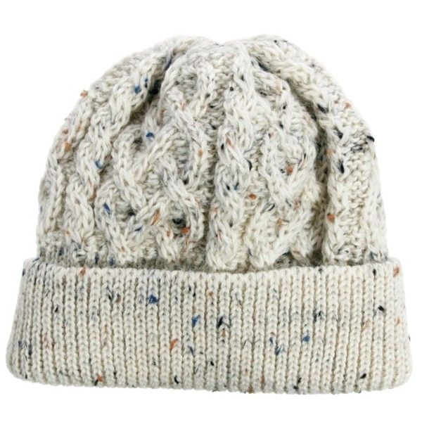 ASOS Beanie Hat in 100% British Wool ($16) ❤ liked on Polyvore featuring men's fashion, men's accessories, men's hats, hats, mens cable knit beanie hats, mens wool hats and mens beanie hats