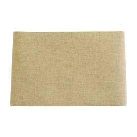 allen   roth 10-in x 16-in Tan Linen Fabric Rectangular Lamp Shade
