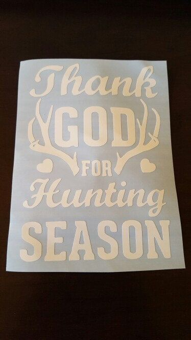 Thank God for Hunting Season Vinyl Decal. Hunting Decal. by SouthernCharme