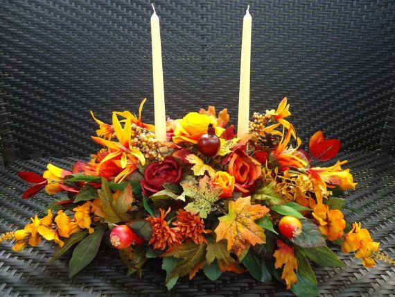 Fall Floral Table Arrangement Dinning Table by NaturesTrueArt, $75.00