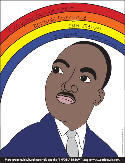 Color A Rainbow Of MLK Quotes Here