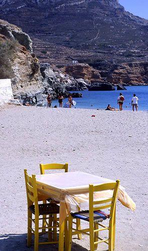 Agali beach, Folegandros Island, Greece