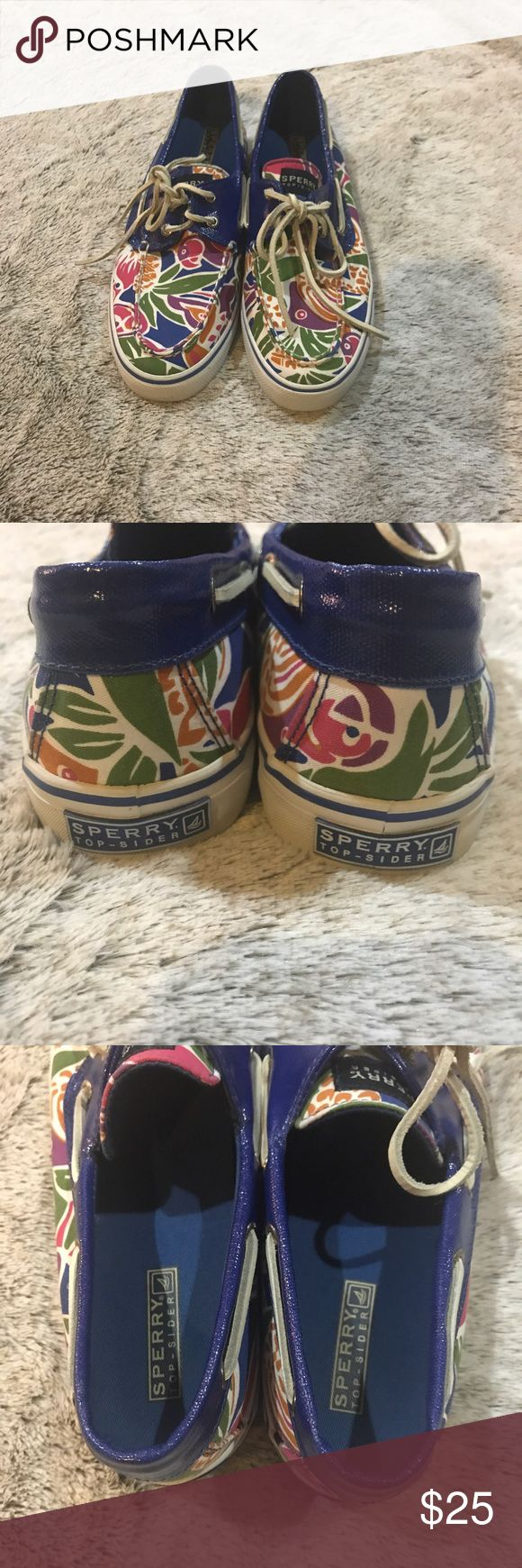 Brand New Sperry Boat Shoes Never worn Sperry Boat Shoes. Really fun pattern. Size 9. Sperry Top-Sider Shoes