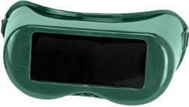 """Radnor Fixed Front Welding Goggles With Green Rigid Frame And Shade 5 Green 2"""" X 4"""" Lens"""