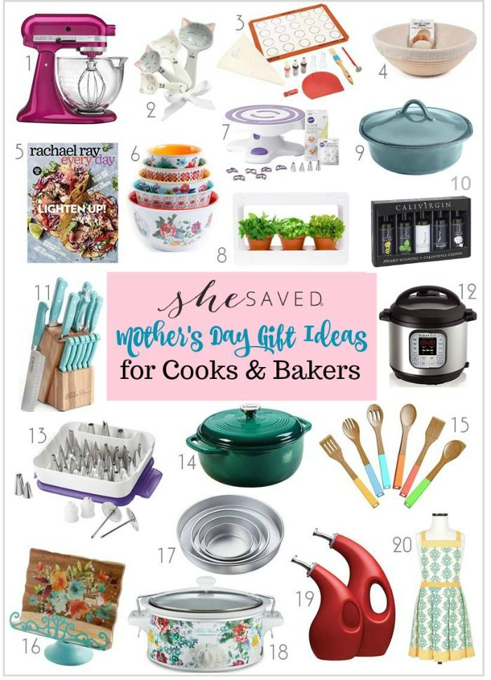 Mother S Day Gift Ideas For Cooks And Bakers Shesaved Gifts For A Baker Gifts Gifts For Mom