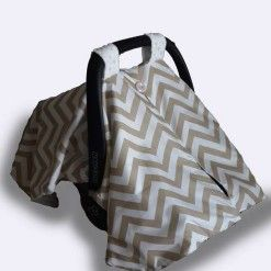 Car seat canopy winter stone chevron 1 #chevron #stone #carseatcanopy #moocachoo #babyproduct #handcrafted #onlineshopping #mommy