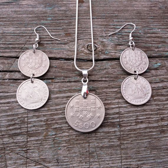 Set Coin jewelry. Coins Of Portugal. Jewelry от JewelryForYourself
