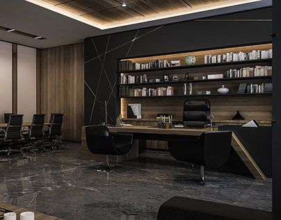 CEO Office Design And Visualization For A Well Known Company In Kuwait City
