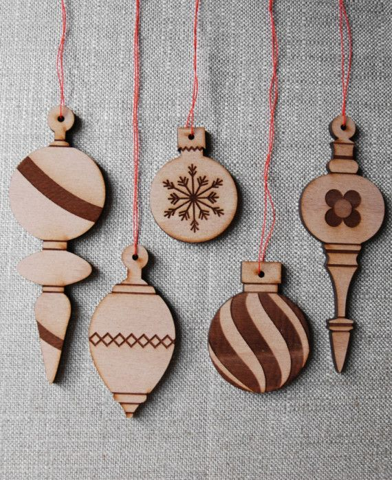 Wood Christmas Ornaments - Scroll saw