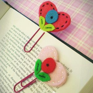 I Heart Reading Bookmark | AllFreeSewing.com