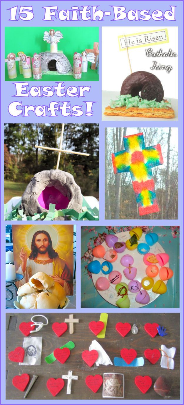 15 Faith-based Easter crafts! Have fun with kids while focusing on the true meaning of Easter. Make Easter about the Lamb, not the bunny!
