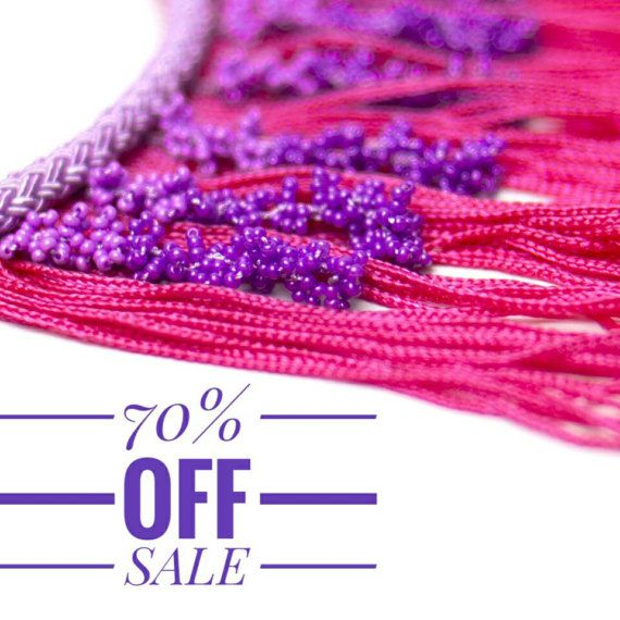 70% OFF Necklace Bohemian Handmade Tassel Fringe Statement