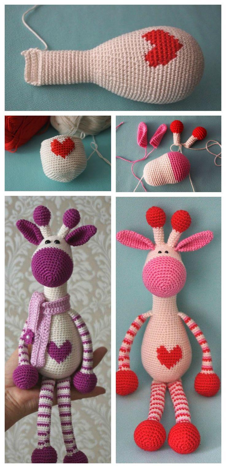 Cute Crochet Giraffe Amigurumi Free Pattern #free pattern