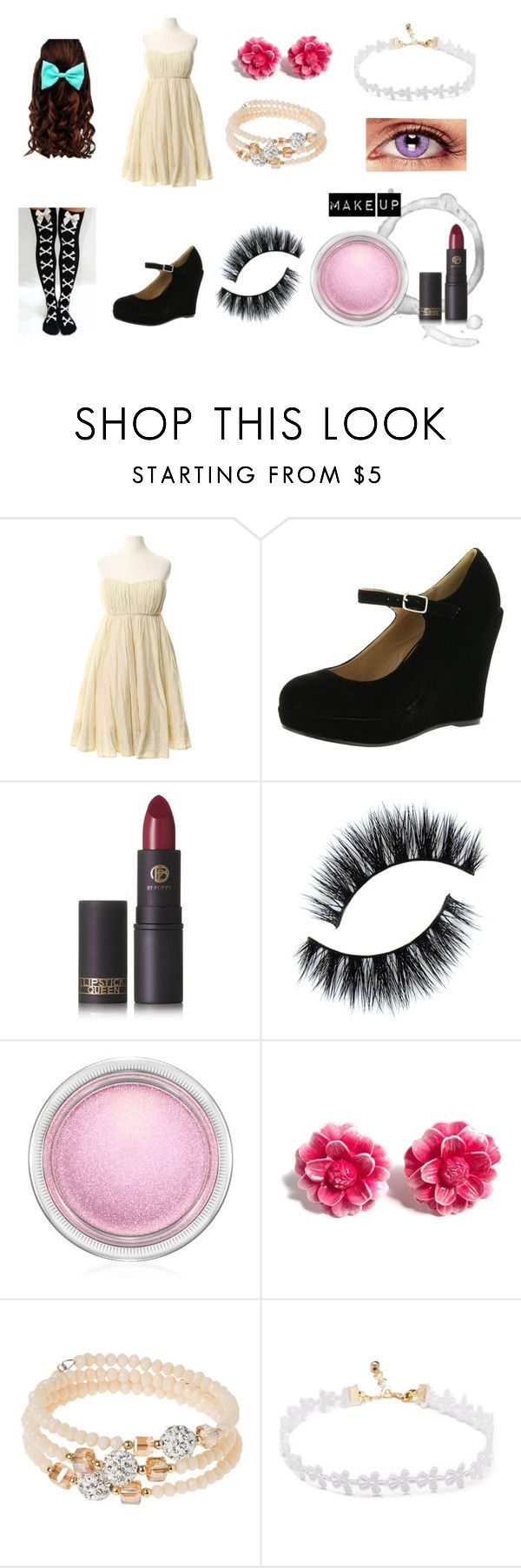 """Don't Hug Me I'm Scared OC"" by awkward-goth ❤ liked on Polyvore featuring Twenty8Twelve, Bonnibel, Lipstick Queen, MAC Cosmetics, Tarina Tarantino and sweet deluxe"