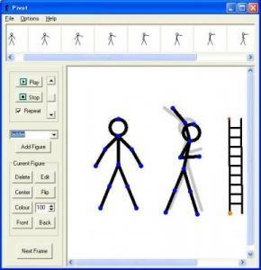 Maak een eenvoudig animatie met deze software. Een stick poppetje.