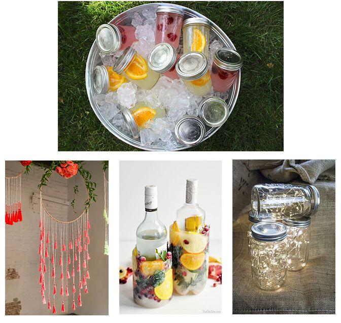 boho party styling decorations