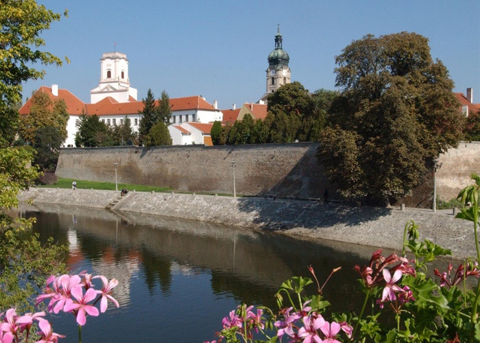Gyor, Hungary  Park by the Castle Wall