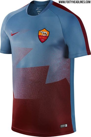 AS Roma 2016 Pre-Match and Training Shirts Leaked - Footy Headlines
