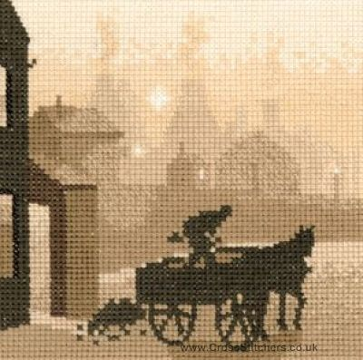 The Coalman - Silhouettes Cross Stitch Kit from Heritage Crafts