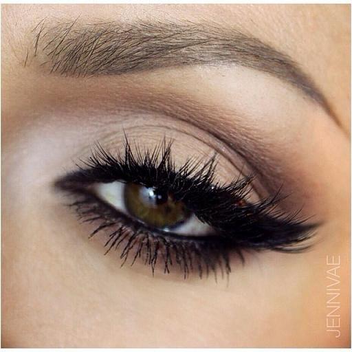 Matte Eye Makeup - Lashes - Winged Eyeliner