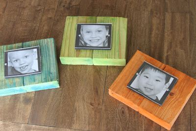wood water color frames, How-to DIY