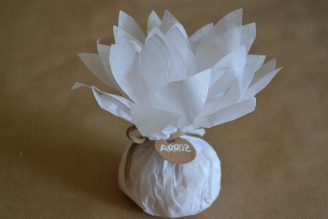 Tutorial bolsas de arroz - Dalias en tu boda | divinopresente
