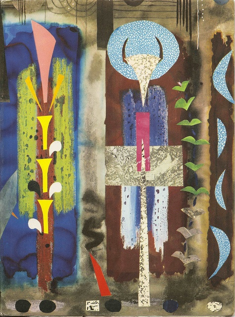Book jacket designed by John Piper for Sanderson's Wallpapers, 1960 by mikeyashworth, via Flickr