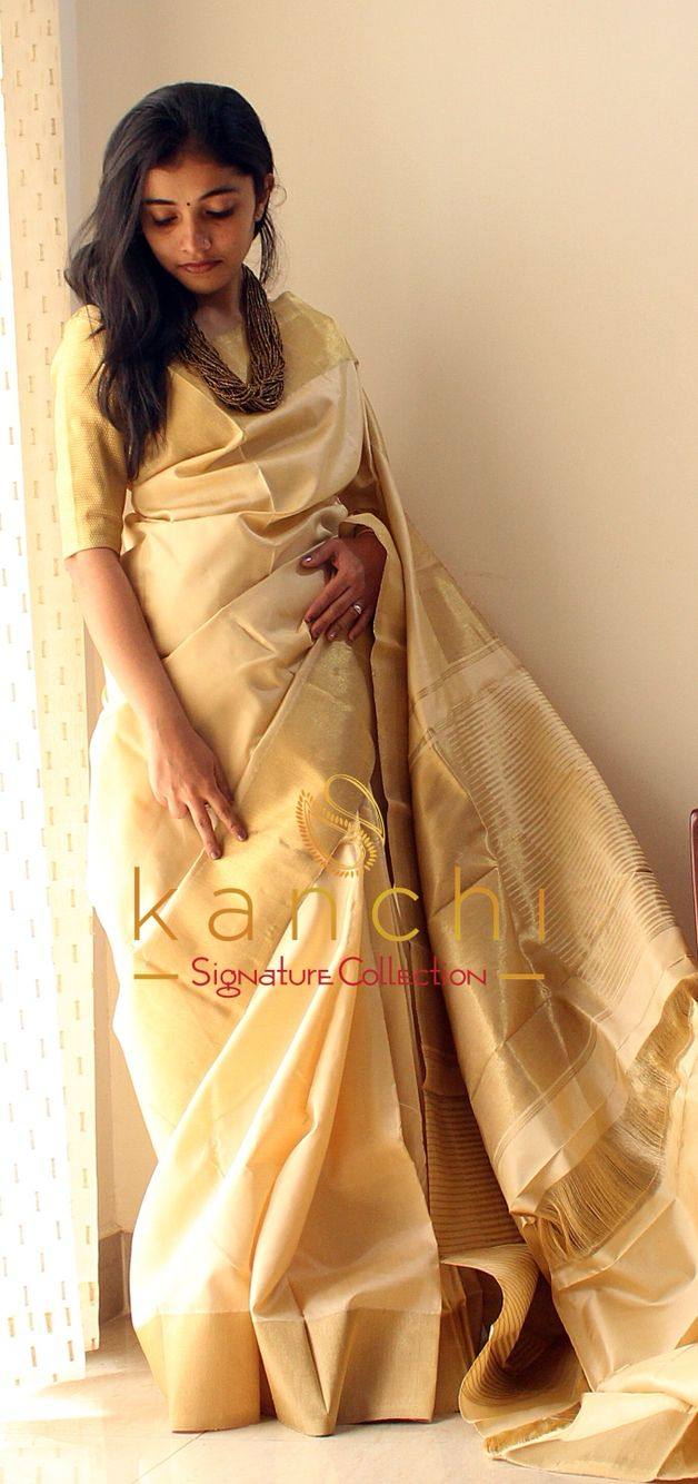 Kanchipuram saree by kanchi signature collection To place an order- WhatsApp us…