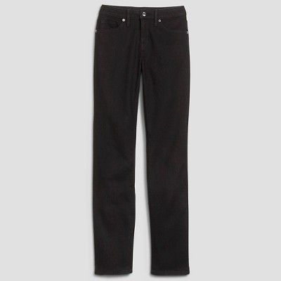 Women's Mid-rise Straight Leg Jeans (Curvy Fit) - Mossimo Black 12 Long, Variation Parent