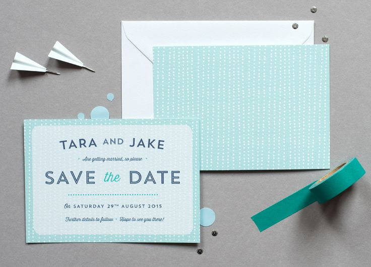 Sequin - Pretty contemporary wedding stationery - Save the Date - Paper Arrow Press - paperarrowpress.co.uk