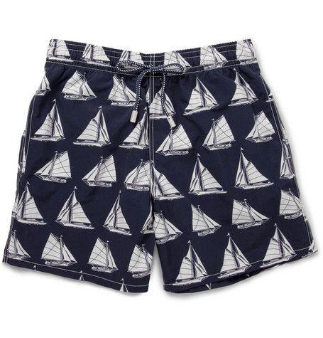 VilebrequinMoorea Mid-Length Boat-Print Swim Shorts