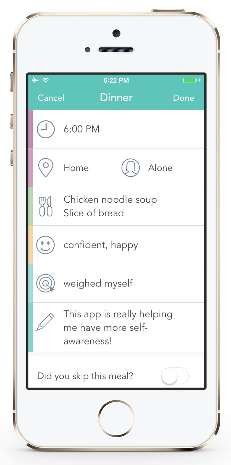 Rise Up + Recover - iOS & Android - eating disorder monitoring and management tool