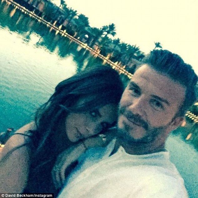 The world's sweetest couple? David and Victoria Beckham cosied up for a cute Instagram selfie from the retired footballer's lavish 40th birthday celebrations in Marrakech, Morocco on Saturday