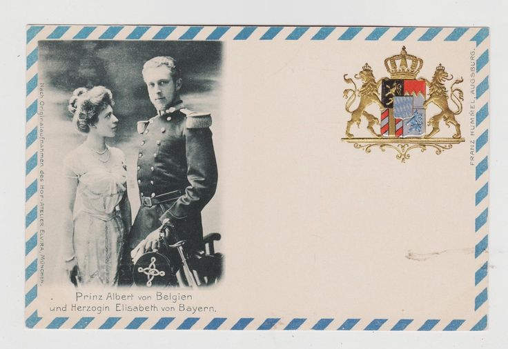 Prince Albert of Belgium & Princess Elisabeth of Bavaria, c.1900