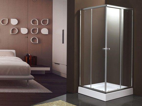 Chrome Corner Entry Shower Enclosure | CTM
