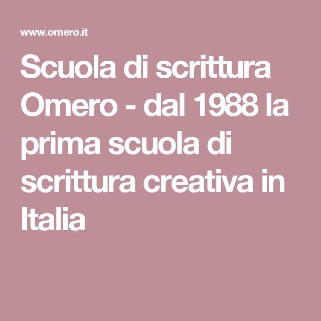 Scuola di scrittura Omero - dal 1988 la prima scuola di scrittura creativa in Italia
