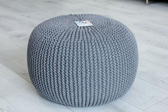 Beautiful knitted pouf, ,ottoman,footstool,decor&housewares,floor pillow,seat, home interior,living room,knitting pouf,crochet pouf