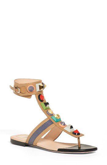 a9b6d6aedaac Fendi Fendi  Rainbow  Studded Colorblock Gladiator Sandal (Women) available  at  Nordstrom