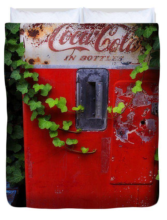 Austin Texas - Coca Cola Vending Machine - Luther Fine Art Art Print  Duvet Cover by Luther Fine Art