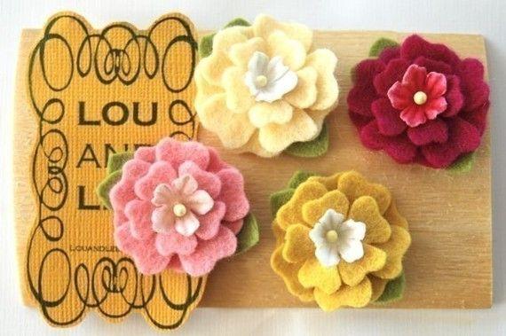 more felt fabric flowers