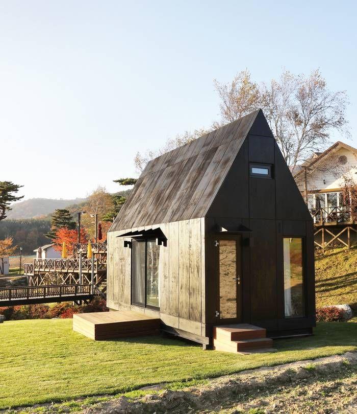 Крошечные домики для гостей зимней Олимпиады-2018 в Южной Корее