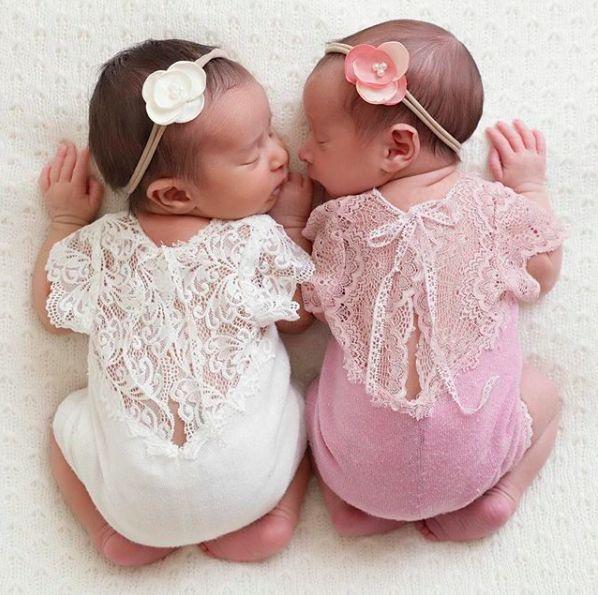 Farrah romper headband baby photo shoot outfits