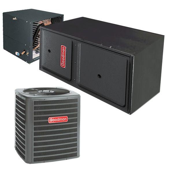 2 Ton Goodman Gsx140241 14 Seer Central Air Conditioner 40 000 Btu 96 Efficiency Gas Furnace Horizontal Syste In 2020 With Images Central Air Conditioners Central Air Conditioning