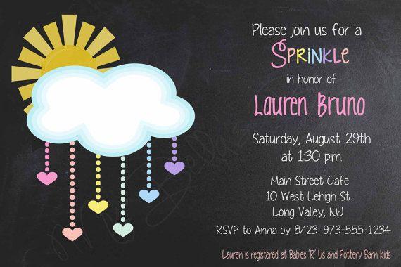 Sunshine Sprinkle Invite Sprinkle Invitation by MyBellasBowtique